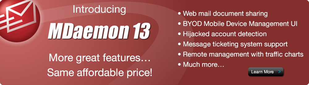 MDaemon 13 New Features