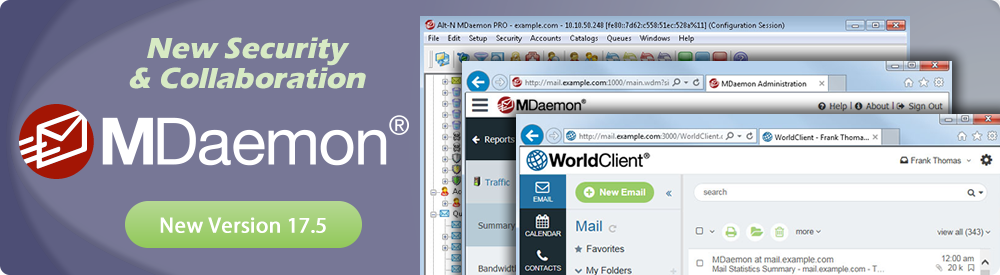 MDaemon 17.5 mail server