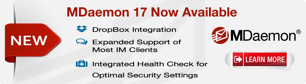 MDaemon 17 mail server