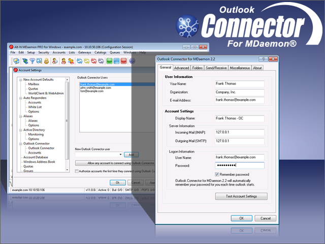 Connect MDaemon mail server to Outlook. Share calendar, contacts, and more.